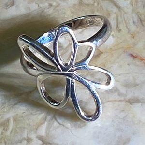 METALSMITHS 925 Sterling Silver Flower Ring